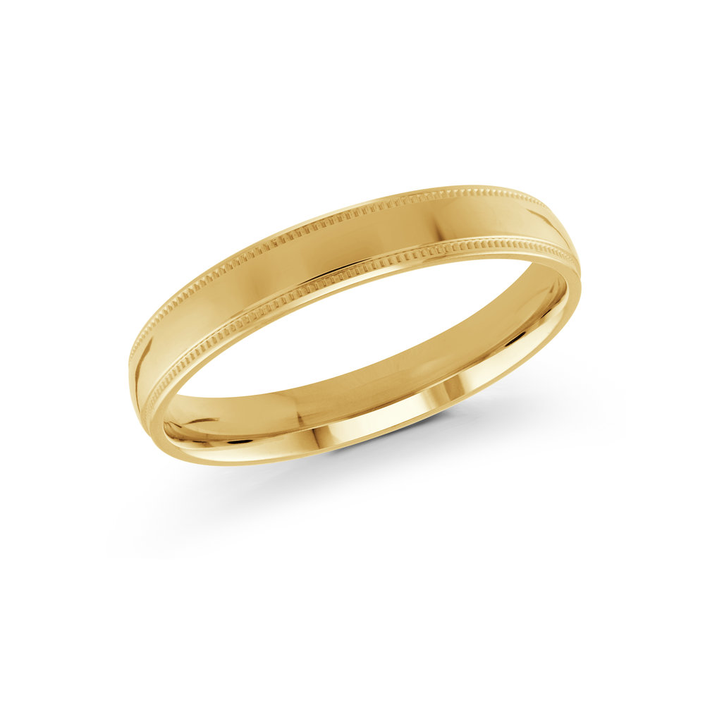 Yellow Gold Men's Ring Size 3mm (J-209-03YG)