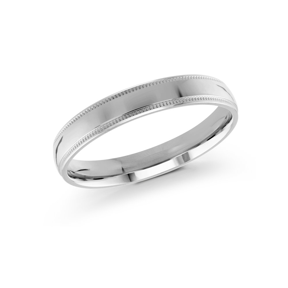 White Gold Men's Ring Size 3mm (J-209-03WG)