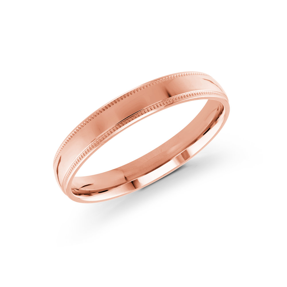 Pink Gold Men's Ring Size 3mm (J-209-03PG)