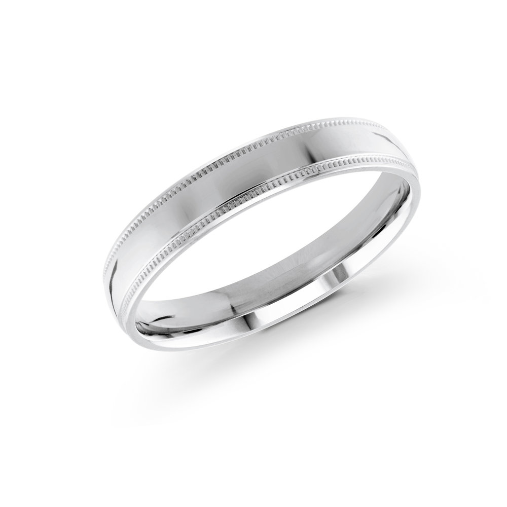 White Gold Men's Ring Size 4mm (J-209-04WG)