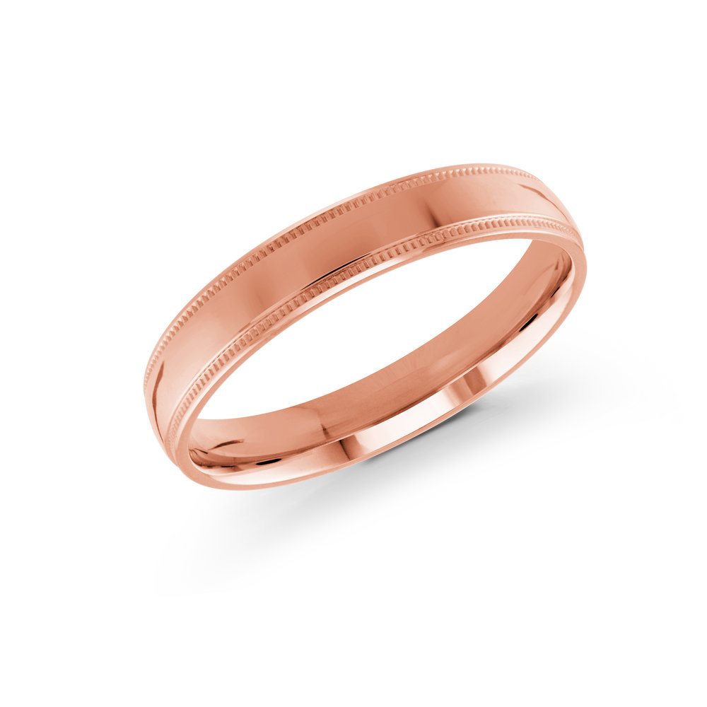 Pink Gold Men's Ring Size 4mm (J-209-04PG)