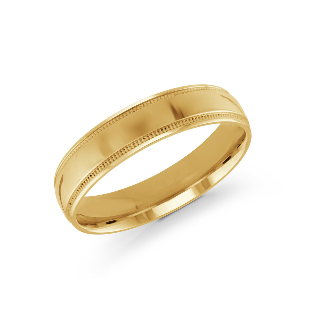Yellow Gold Men's Ring Size 5mm (J-209-05YG)