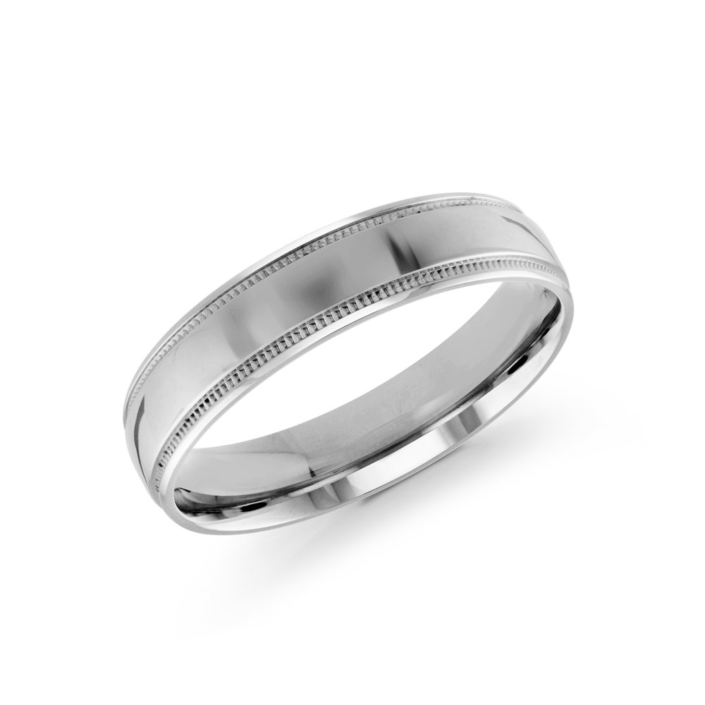 White Gold Men's Ring Size 5mm (J-209-05WG)
