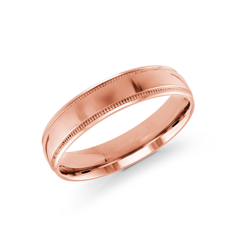Pink Gold Men's Ring Size 5mm (J-209-05PG)