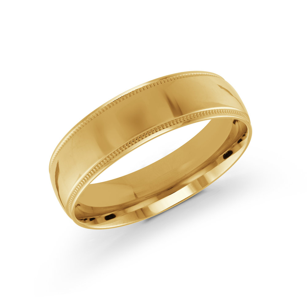 Yellow Gold Men's Ring Size 6mm (J-209-06YG)