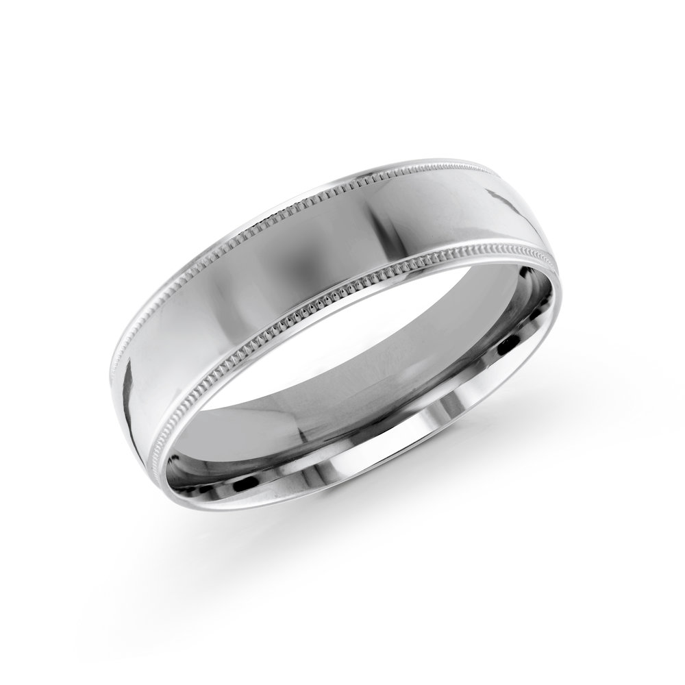 White Gold Men's Ring Size 6mm (J-209-06WG)
