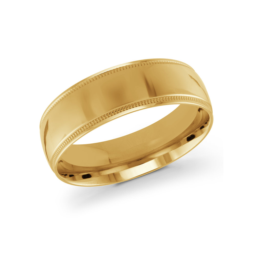 Yellow Gold Men's Ring Size 7mm (J-209-07YG)