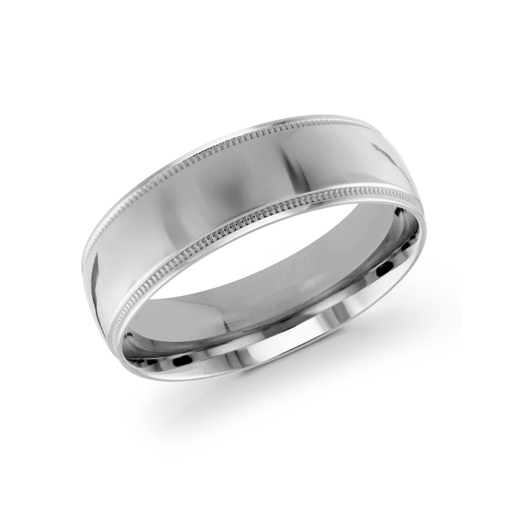 White Gold Men's Ring Size 7mm (J-209-07WG)