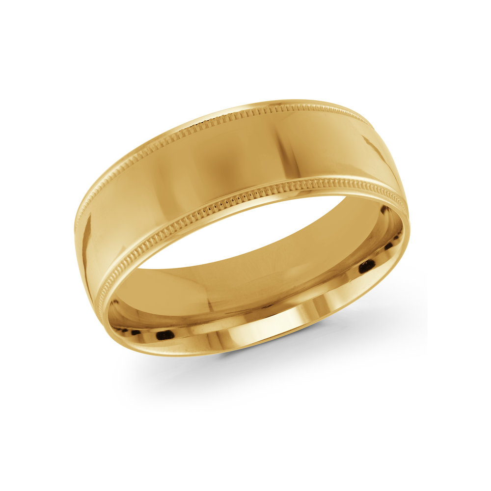Yellow Gold Men's Ring Size 8mm (J-209-08YG)