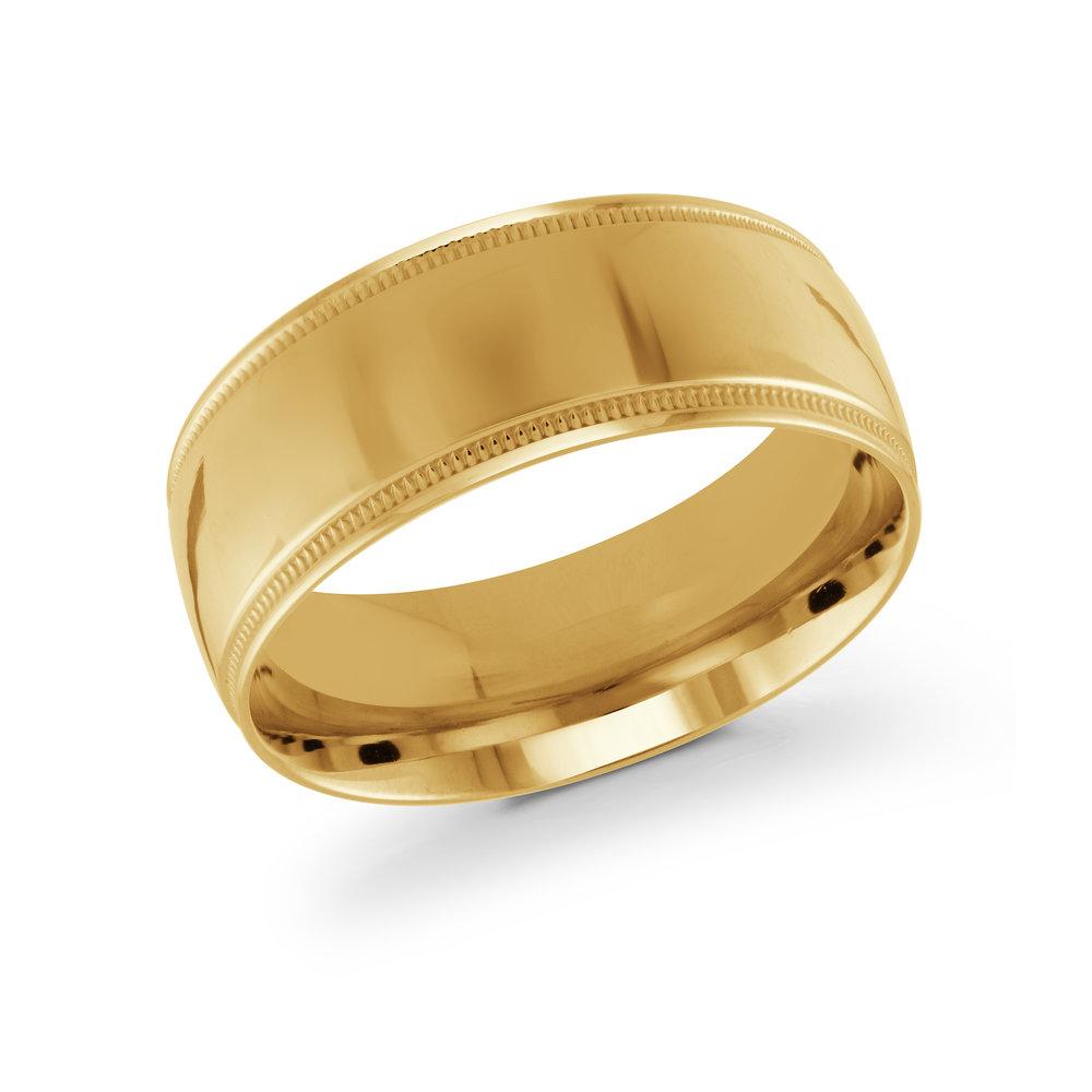 Yellow Gold Men's Ring Size 9mm (J-209-09YG)