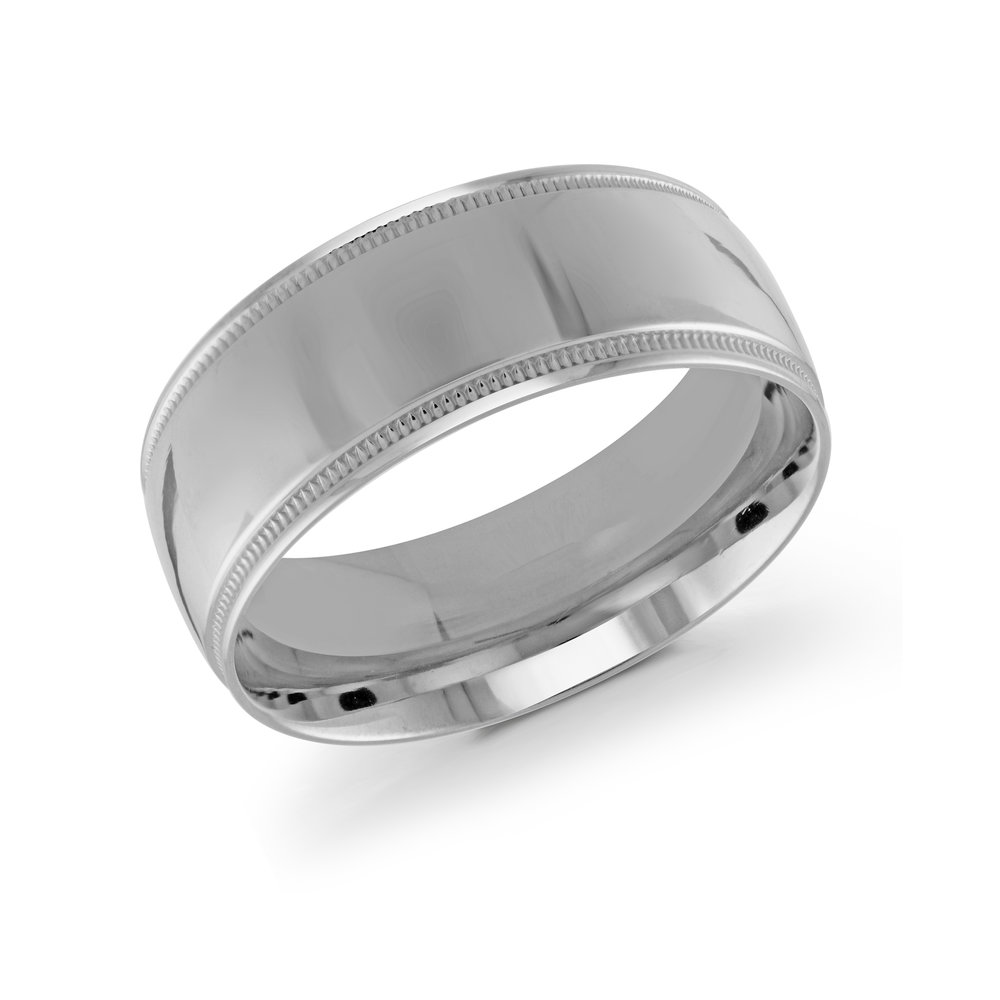 White Gold Men's Ring Size 9mm (J-209-09WG)