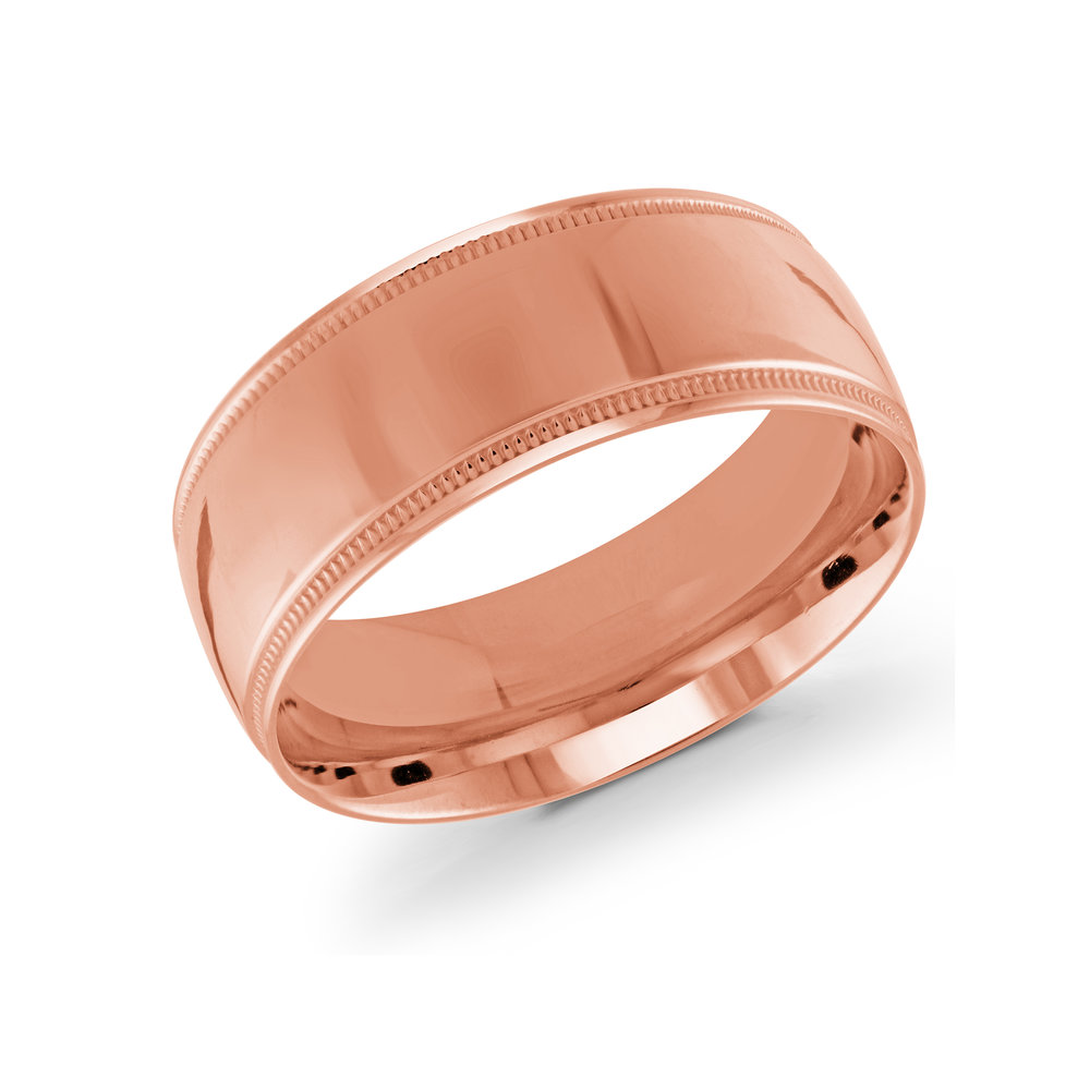 Pink Gold Men's Ring Size 9mm (J-209-09PG)