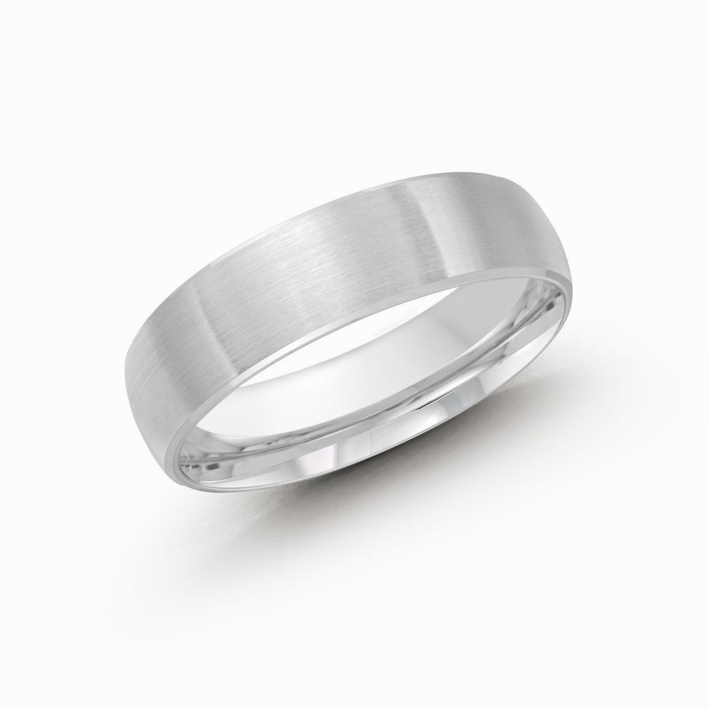 White Gold Men's Ring Size 6mm (CB-249-6W)