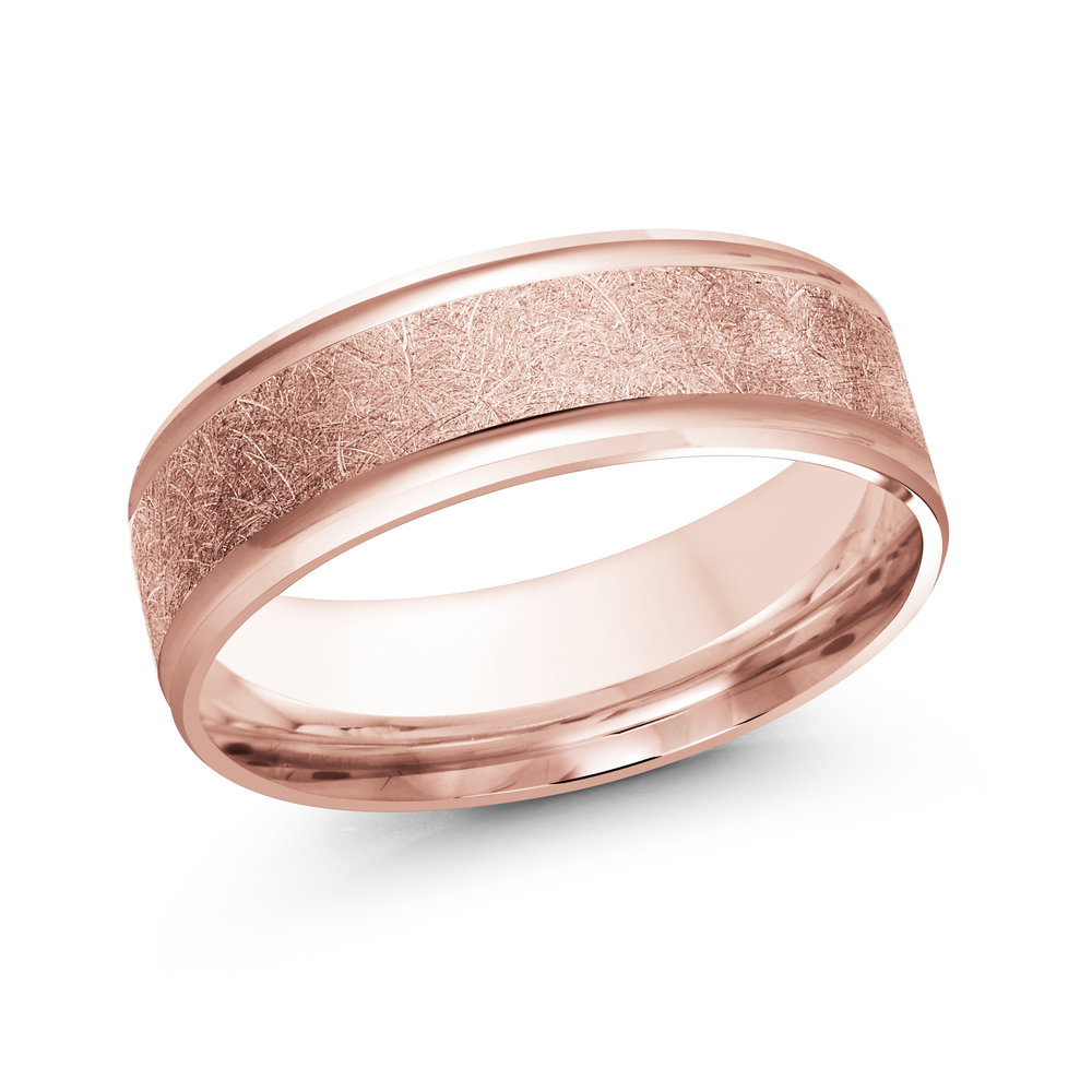 Pink Gold Men's Ring Size 7mm (LUX-160-7P)
