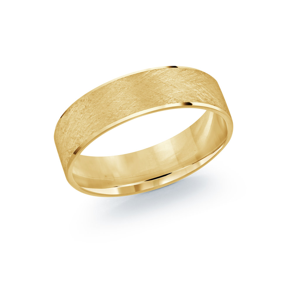 Yellow Gold Men's Ring Size 6mm (LUX-974-6Y)
