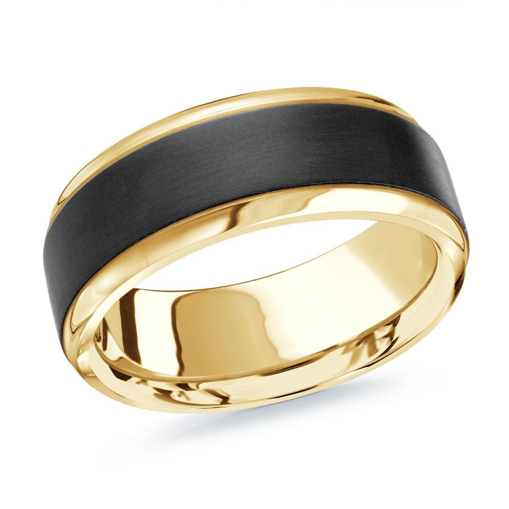 Yellow Gold Men's Ring Size 8mm (MRDA-060-8Y)