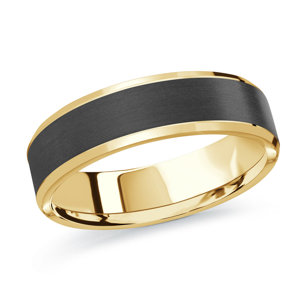 Yellow Gold Men's Ring Size 6mm (MRDA-093-6Y)