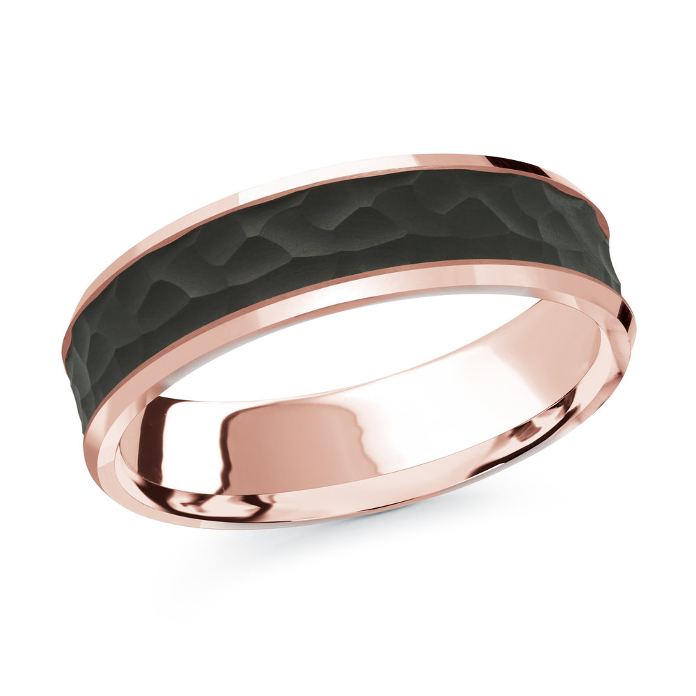 Pink Gold Men's Ring Size 6mm (MRDA-075-6P)
