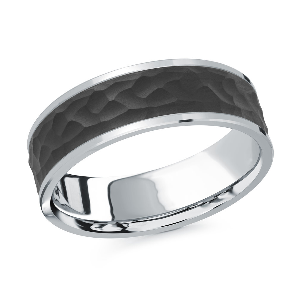 White Gold Men's Ring Size 7mm (MRDA-076-7W)