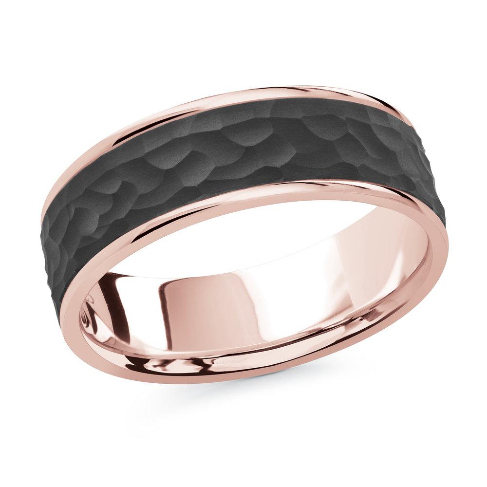Pink Gold Men's Ring Size 7mm (MRDA-078-7P)