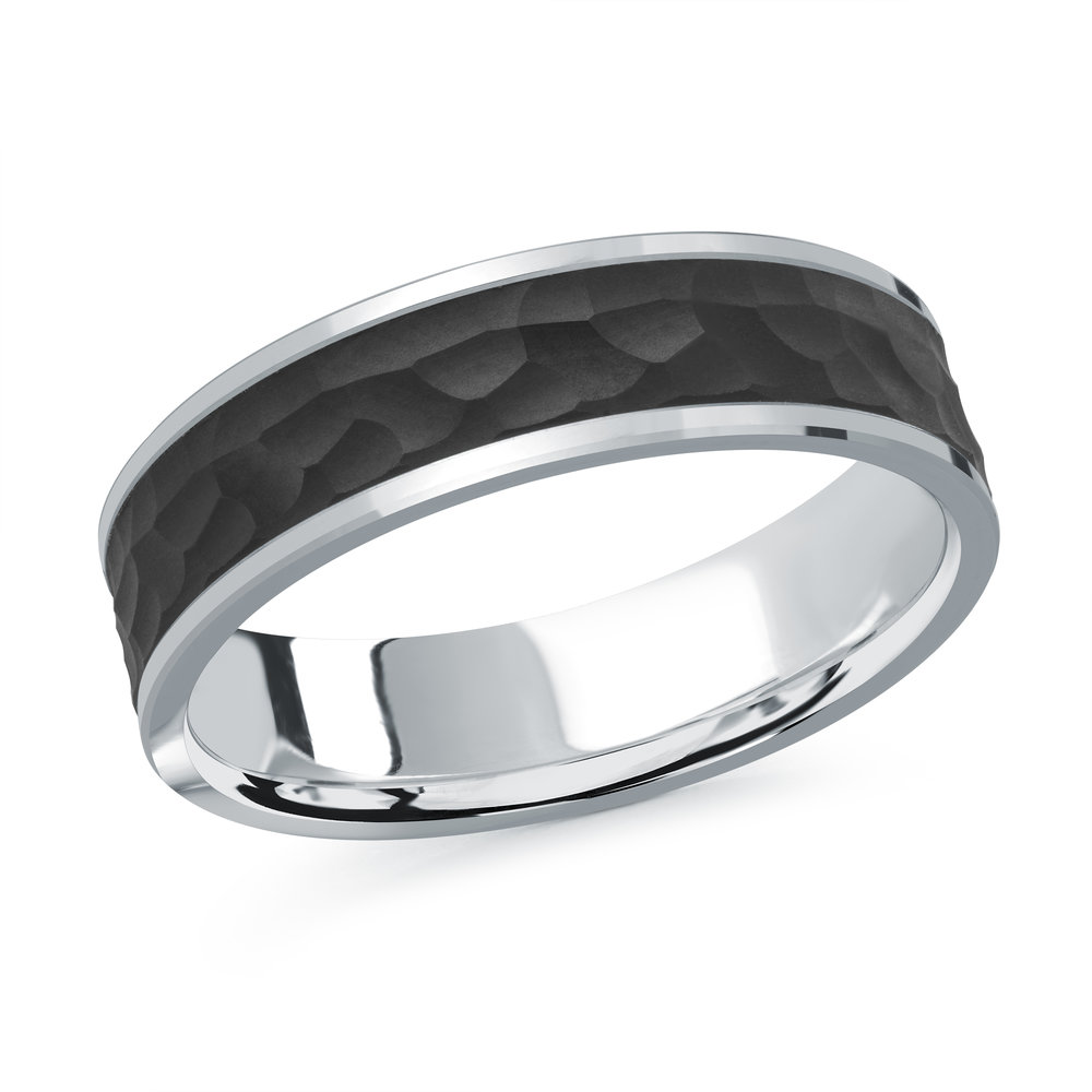 White Gold Men's Ring Size 6mm (MRDA-080-6W)