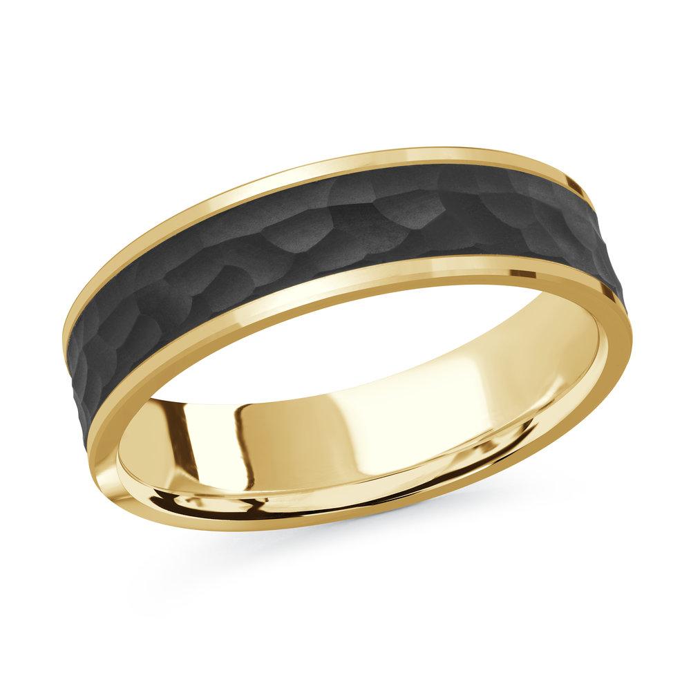 Yellow Gold Men's Ring Size 6mm (MRDA-080-6Y)