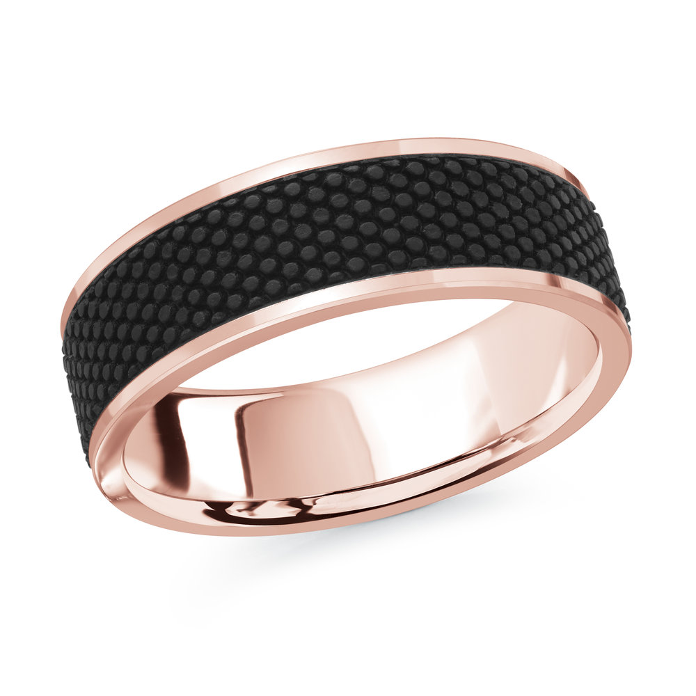 Pink Gold Men's Ring Size 7mm (MRDA-082-7P)