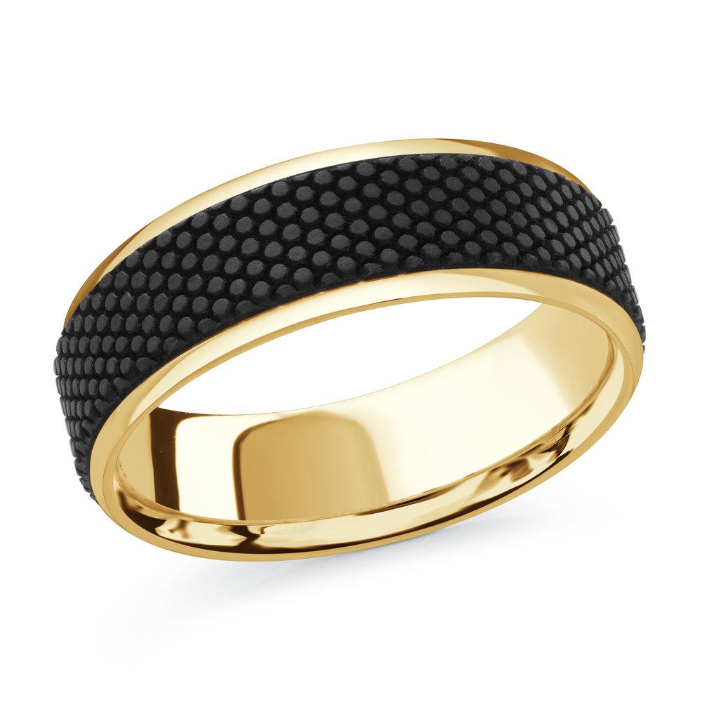 Yellow Gold Men's Ring Size 7mm (MRDA-083-7Y)