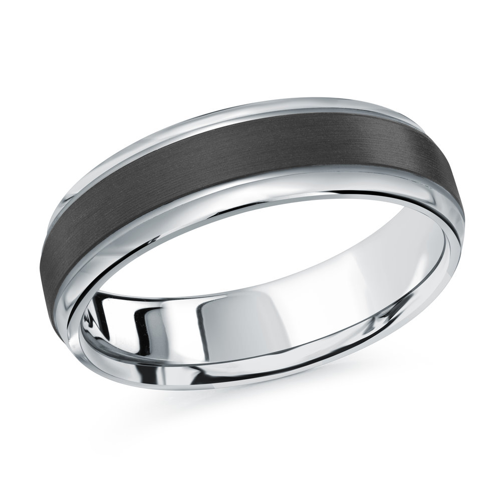 White Gold Men's Ring Size 6mm (MRDA-088-6W)