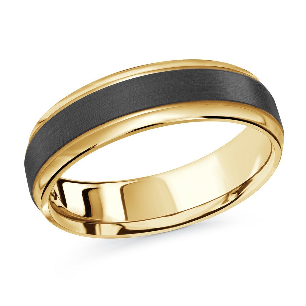 Yellow Gold Men's Ring Size 6mm (MRDA-088-6Y)