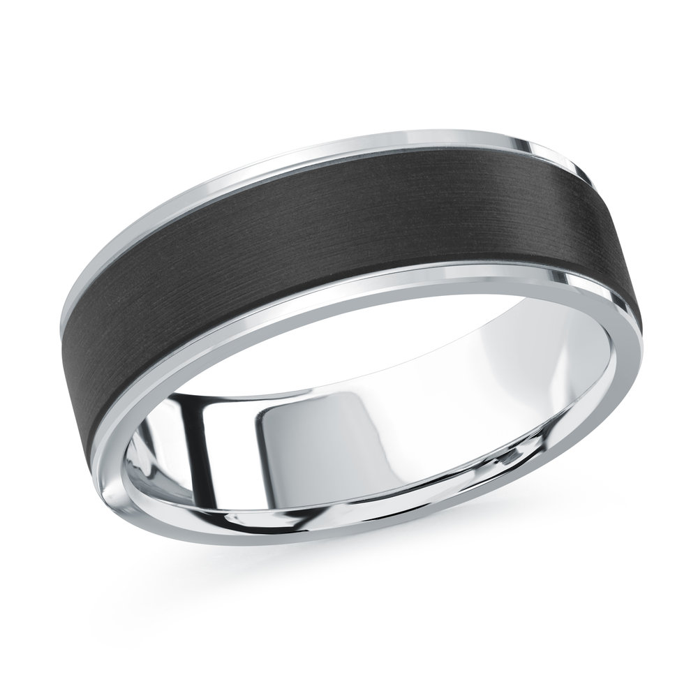 White Gold Men's Ring Size 7mm (MRDA-089-7W)