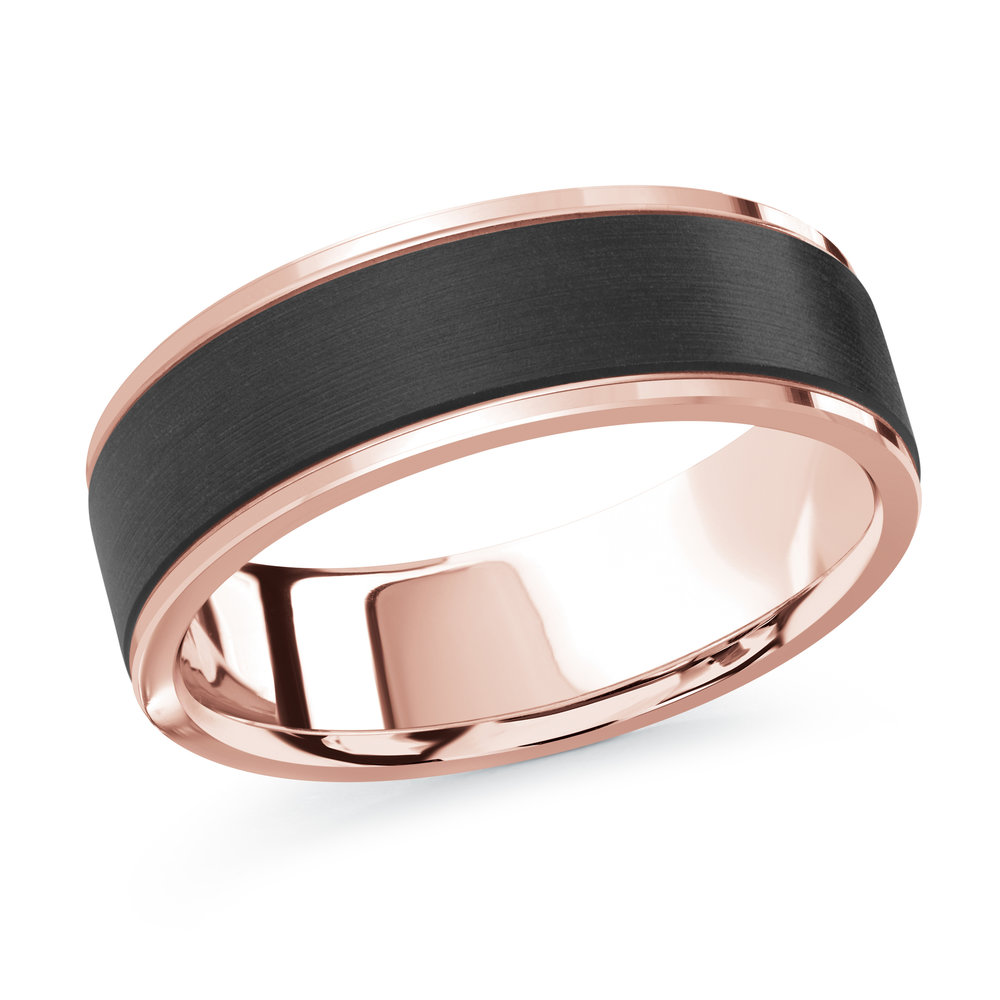 Pink Gold Men's Ring Size 7mm (MRDA-089-7P)