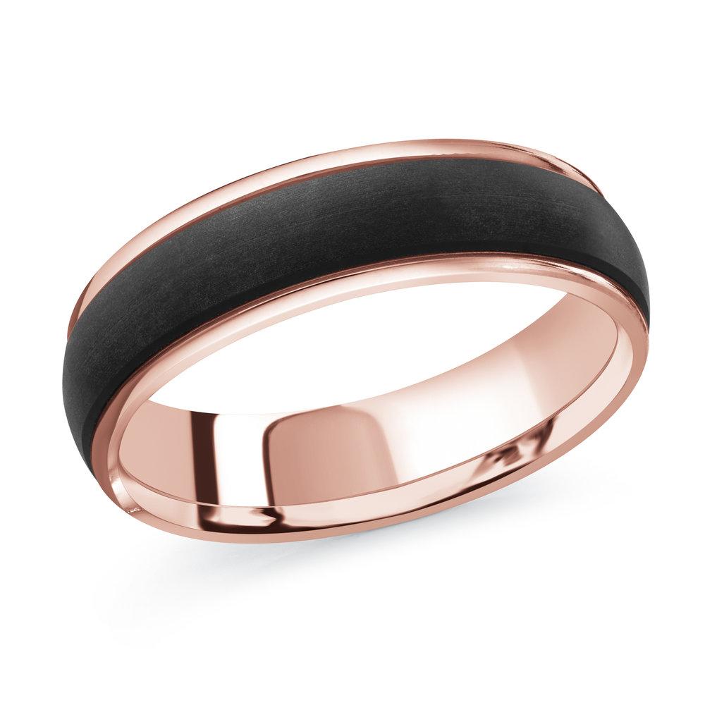Pink Gold Men's Ring Size 6mm (MRDA-091-6P)