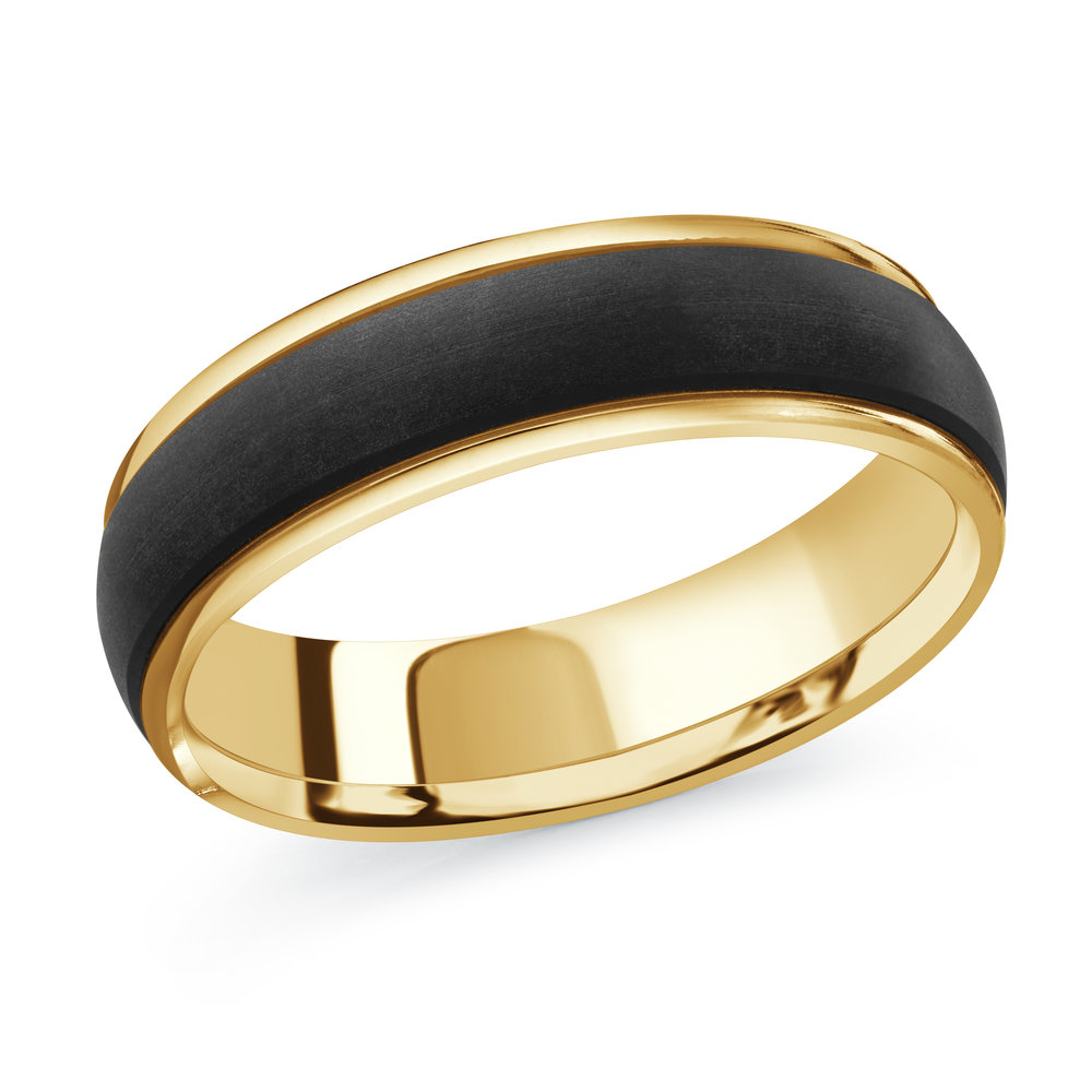 Yellow Gold Men's Ring Size 6mm (MRDA-091-6Y)
