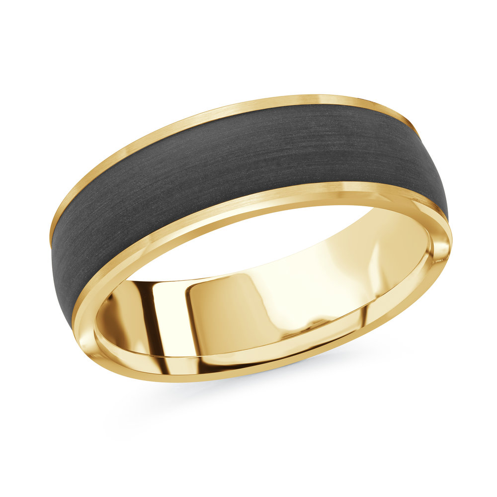 Yellow Gold Men's Ring Size 7mm (MRDA-092-7Y)